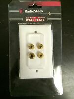 (1 Pc) Radioshack Speaker 24k Gold Plated Wall Plate 4 Terminal Binding Post