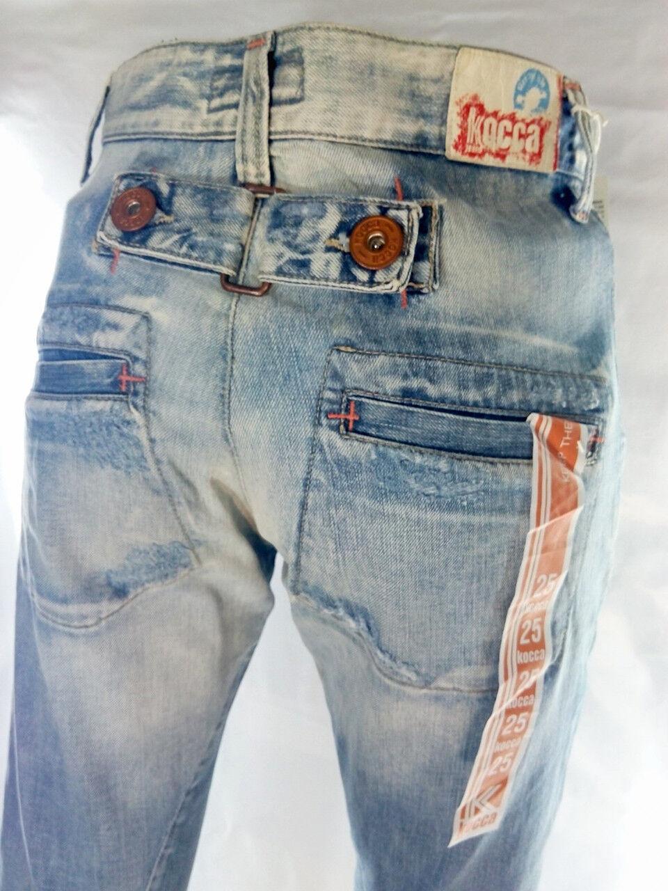 Kocca azul jeans donna W MADE IN ITALY vita alta W donna 25  39 ITA S 60f1e3 e7f3dffaa7c