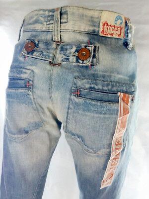 Jeans Pantalone Donna Kocca Blue Made In Italy Vita Alta W 25= 39 Ita S