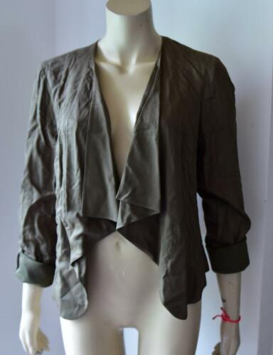 New Look Women/'s Waterfall Jacket KHAKI GREEN size 12 new with tag #25
