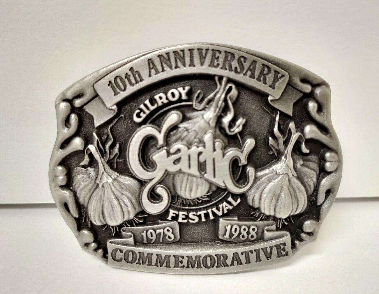 Gilroy Garlic Festival 1978 - 1988 10th Anniversary #110/325 Buckle Vintage
