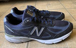 New Balance 990v4 990 Navy Blue Walking