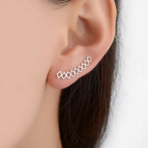 1-Pair-Ear-Cuff-Wrap-Piercing-Clip-On-Earring-Jewelry-Cartilage-Fashion-gift