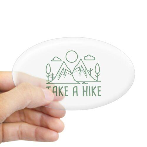 45025913 CafePress Take A Hike Oval Bumper Sticker Euro Oval Car Decal