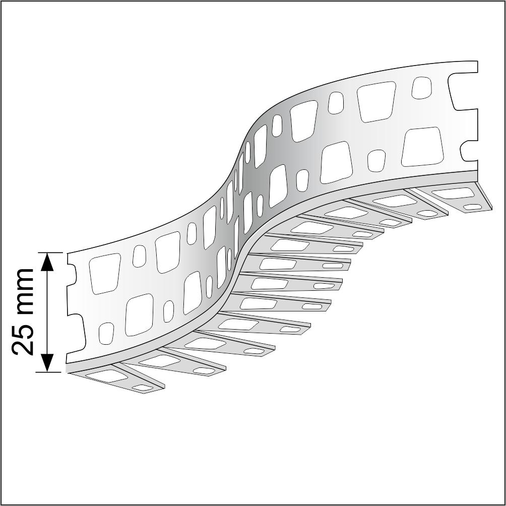 2 5 M Flexible Arch Render Corner Bead Pvc White 25x25