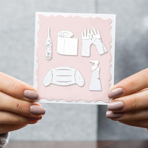 Bathroom Metal Cutting Dies Stencil Scrapbooking Embossing Card Craft Album