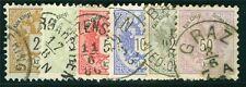 Österreich 1883 Michel Nr. 44-49 Freimarken Doppeladler gestempelt