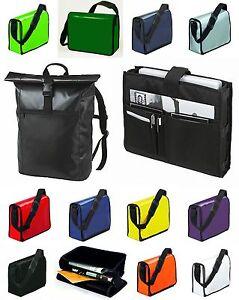 lkw plane schultertasche kurier rucksack laptop notebook tasche umh nge ebay. Black Bedroom Furniture Sets. Home Design Ideas