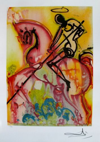 Salvador Dali SAINT GEORGE /& THE DRAGON Signed Dalinean Horses Lithograph