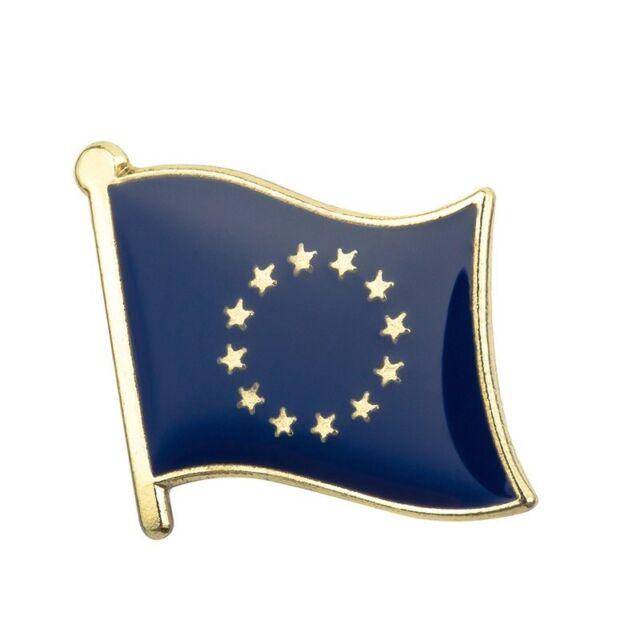 European Union EU Blue Stars Flag Pin Badge