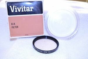 NEW-Vivitar-67-mm-81A-Screw-In-Filter-with-Case-and-Box-Made-in-Japan-Q-22