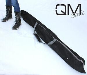 QMBasic classic SKITASCHE Skisack 1 Paar Alpinski 190 cm, Zipper Tasche Rolltop
