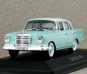 MB Mercedes Benz 220 SE - Heckflosse W111 - Pearl green - Dealer Model 1:43