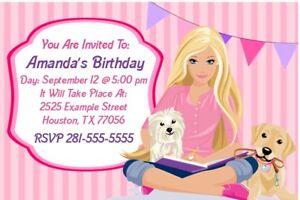 Barbie Birthday Party Invitation Printable Ebay
