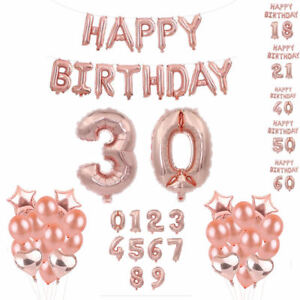 4x-Rose-Gold-Foil-Balloon-Set-Helium-Confetti-Birthday-Wedding-Party-Decor-DIY