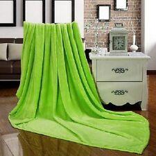 Super Soft Plush Mink Fleece Queen King Bed Sofa Throw 9 Solid Colors Blanket