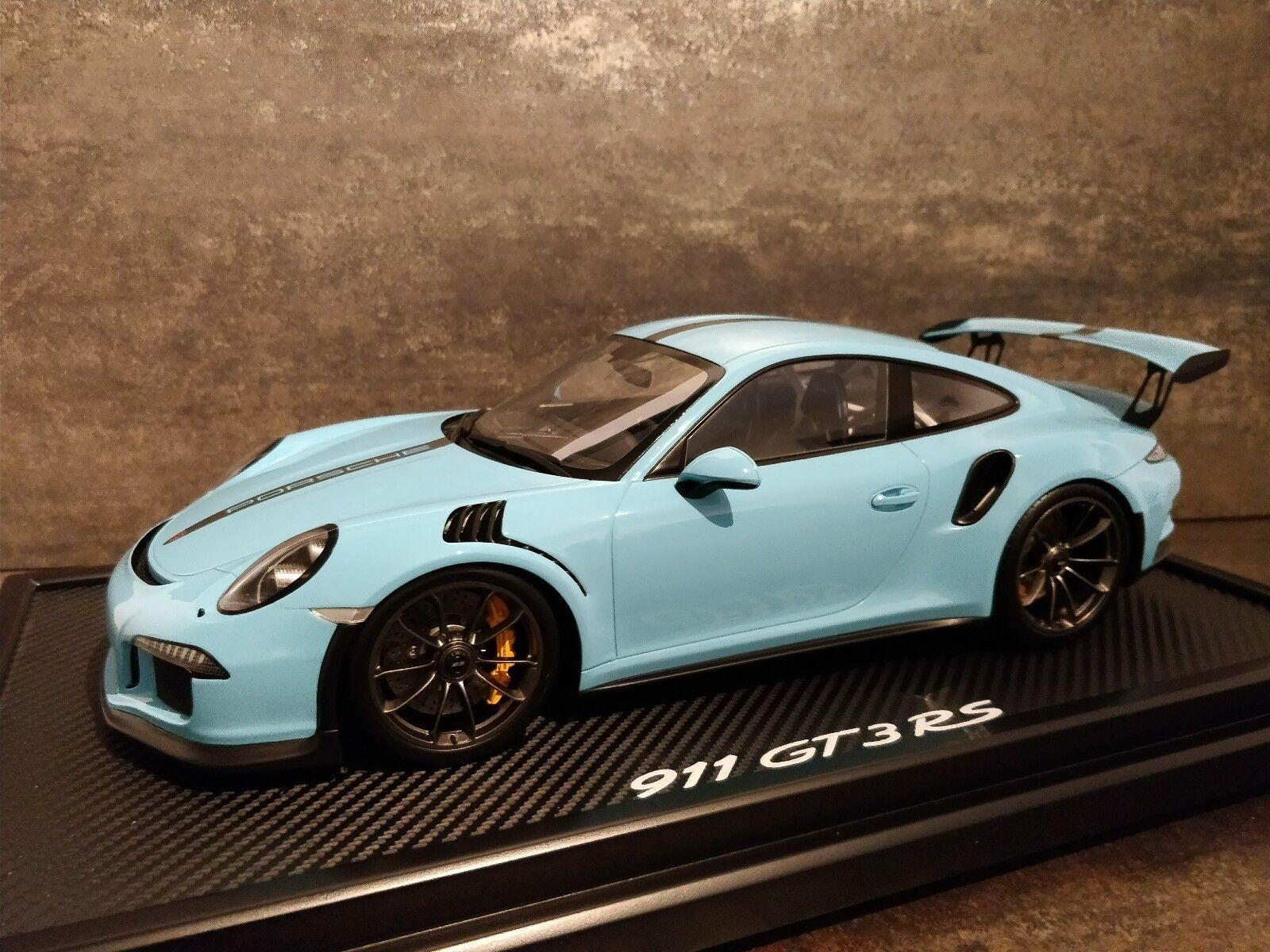 Porsche 911 (991) gt3 rs Spark 1 12 limited edition MJ 2015 Olympia Bleu 200 pcs
