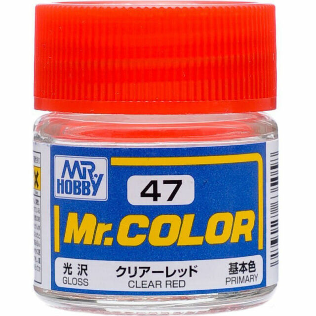 MR HOBBY Color C47 Clear Red (Gloss / Primary) Paint 10ml US Model Kit Paint New