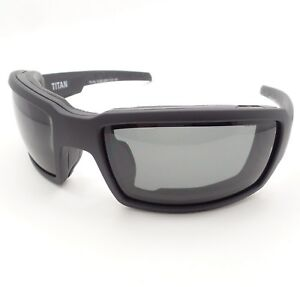 0dc8ceea914 Wiley X Titan Grey Matte Black Grey Sunglasses Authentic New CCTTN01 ...