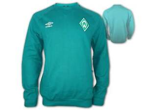 Umbro-SV-Werder-Bremen-Travel-Sweatshirt-gruen-SVW-Sweat-Top-Pullover-Gr-S-3XL