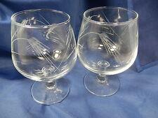 Set of 2 Brandy Goblets Glasses WHEAT Sasaki Crystal Multi-sided Stem 109200