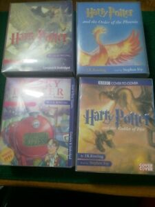 Harry-potter-bbc-Cover-To-Cover-Audio-Cassets-Read-By-Stephen-Fry-X-4