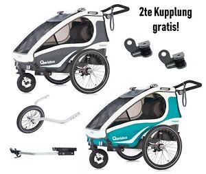 Qeridoo Kidgoo2 Fahrradanhanger 2019 Inkl Joggerrad 2 Kupplung