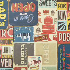 Vintage-American-Diner-Signs-amp-Logos-Wipe-Clean-PVC-Vinyl-Tablecloth-All-sizes