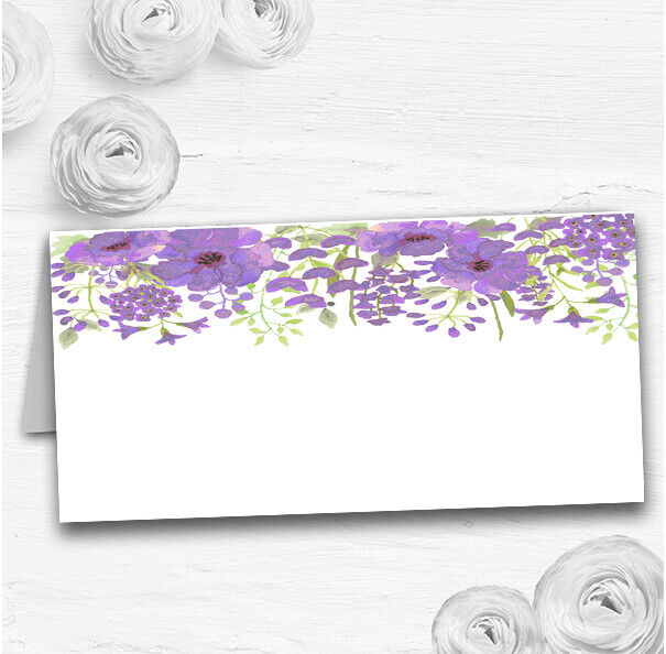Watercolour Floral lila Wedding Table Seating Name Place Cards