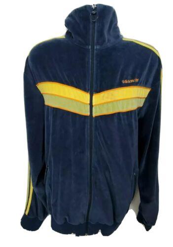 Adidas Trefoil Velvet Track Jacket Men's Size 2XL