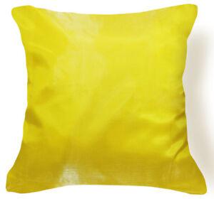 c5eecee10142 Jb203a 2 Pcs x Lemon Yellow Poly Taffeta Cushion Cover Pillow Case ...