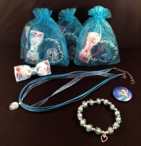 CHILDREN/'S DISNEY FROZEN THEMED ORGANZA PARTY//BAG//GIFT//LOOT//STOCKING FILLER