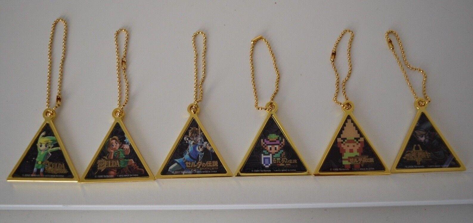 TOMY The Legend of Zelda Triforce COMPLETE Zelda Pendant Dangler Collection