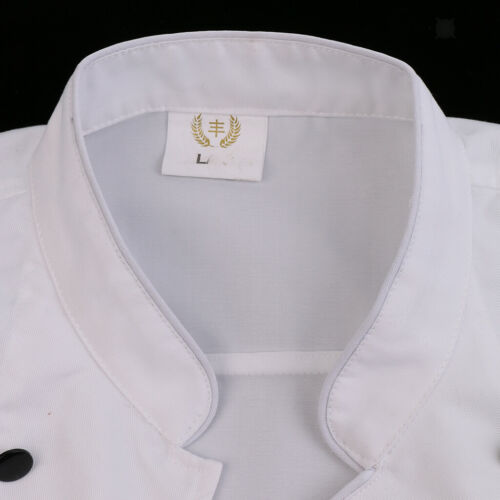 Mens Womens Chef Apparel Short Long Sleeve Chef Jacket Coat Cook Work Uniforms