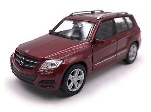 Modellino-Auto-Mercedes-Benz-GLK-SUV-Vino-Rosso-Auto-Scala-1-3-4-39-Licenza
