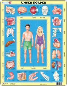 Larsen Puzzle Unser Körper Ebay