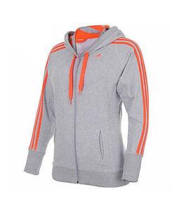 Details zu ADIDAS Ess BAT ClimaLite Cotton Damen Hoodie Sweatshirt Jacke Baumwolle 36 40
