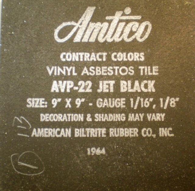 American Biltrite Rubber AMTICO Vinyl ASBESTOS Floor Flooring Tile Samples 1964