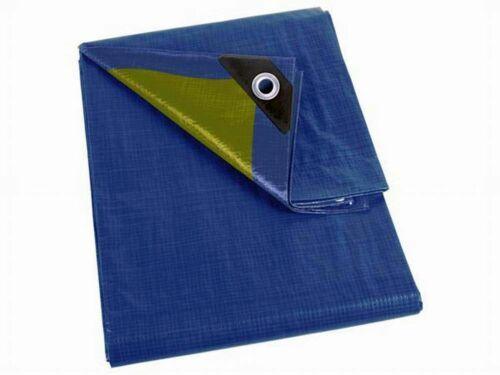 PEREL 110-0204 Abdeckplane Blau//khaki Stark 2x4m