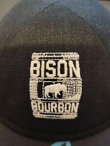 Beautiful Bison Bourbon Restaurant Embroidered Black Linen Yarmulka Kipa Kippot