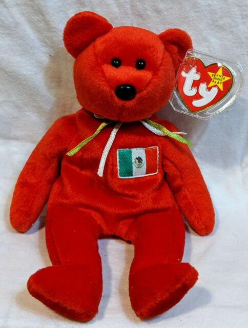 7b9bce93210 RARE Retired Ty Beanie Baby 1999 Mexico Bear Osito for sale online ...