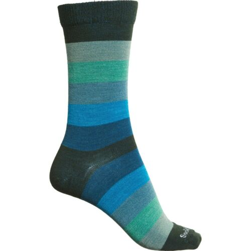 Sockwell Merino Wool Womens M//L Non-Cushion Essential Spectrum Stripe Socks