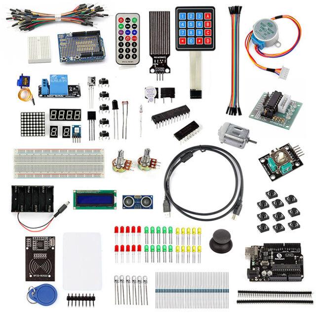 UNO R3 Starter Kit LCD1602 Servo Motor Sensor Breadboard For Arduino Beginners
