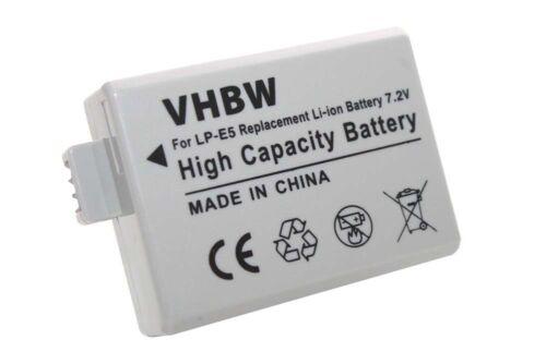 Batería para Canon EOS 450d Rebel XSi lp-e5
