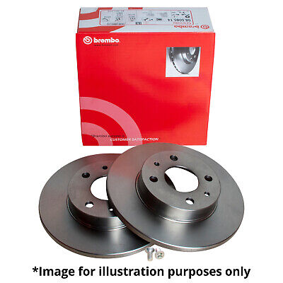 Brake Discs Axle Set 255mm Solid Fits Seat Altea 2.0 TDI 16V Rear Brake Pads