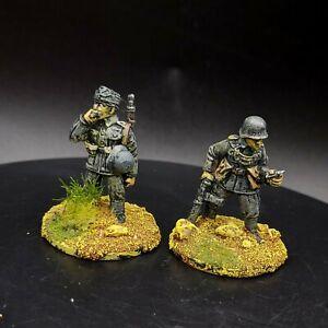 Dipinto 28mm BOLT ACTION Ww2 polizia tedesca del campo × 2