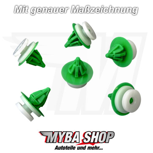 20x Mounting Clips Interior Trim Clips Bracket for Renault White Green/' New