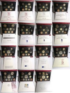 Birthday gift? GB deluxe proof coin year sets from 1985 - 1999; free UK postage
