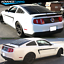 For-05-14-Ford-Mustang-GT-V6-V8-Rear-Window-Louver-Matte-Black-Cover-ABS miniature 2