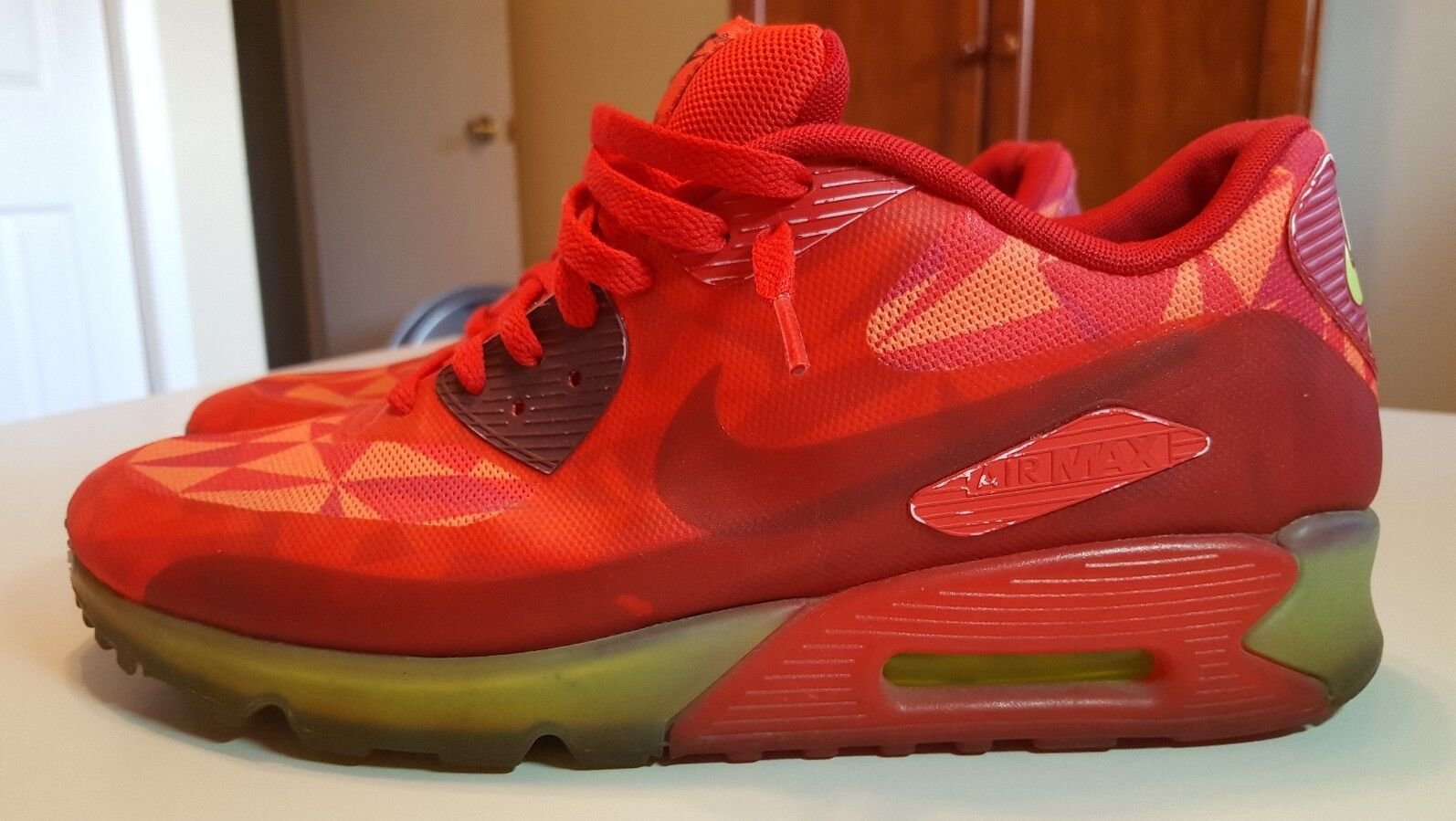 Nike Air Max '90, Ice Pack, 631748 Gym Red, 631748 Pack, 600, Men's Running Shoes, Size 12 d26f00
